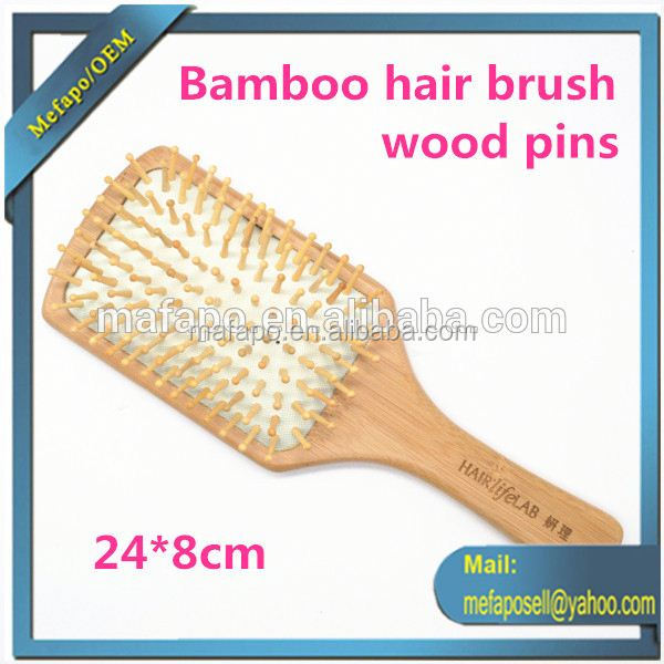 Excellent Quality Cheap Price New Bamboo Infused Oil Paddle Brush Hair Brush