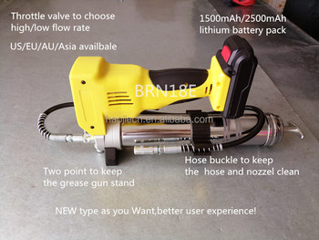 New type 18V/14.4V cordless Lithium battery grease gun with points -stand type