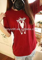 2013 hot selling women t shirt,High quality comfortable simple printing tshirt,Top cotton city t shirts