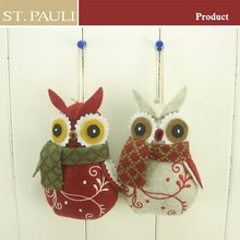 high quality christmas decoration hanging mini plush owl
