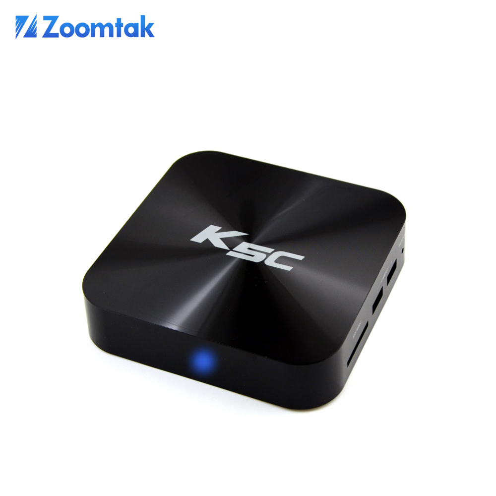 zoomtak k5c hd smart android tv box with wifi preinstalled kodi support OTA update full hd 1080p streaming media player