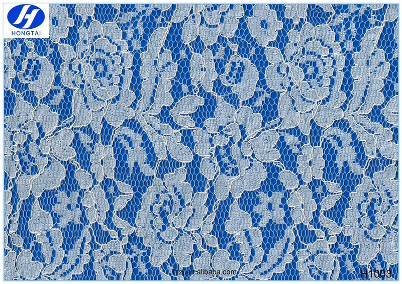 Hongtai Wholesale fabric supplier Floral Breathable lace fabric for garments