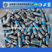 Stainless steel ball plunger slotted set screws