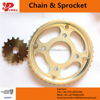 Best quality motorcycle spare parts motorcycle chain and sprocket