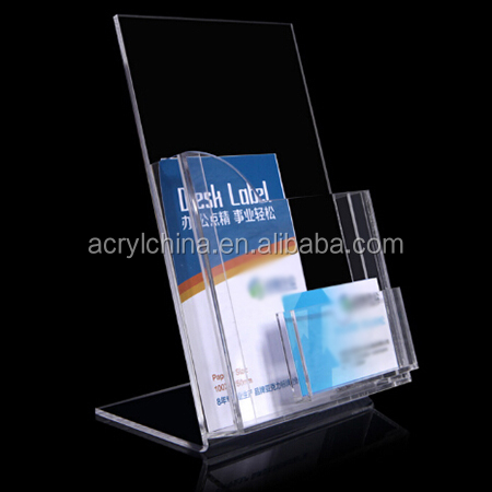 High clear greeting card display stand card display rack