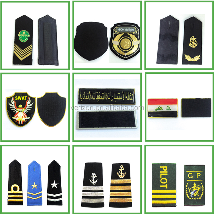 High quality custom rank shoulder military shirts with epaulets captain epaulette shoulder boards