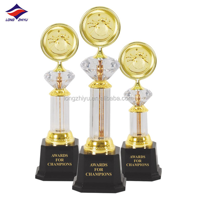 Beautiful Crystal 3D Design Sports Trophy for Gifts