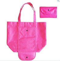 190T pink foldable polyester shopping bag for whosale