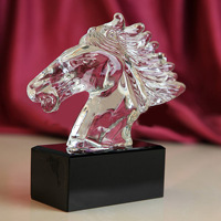 Crystal Horse head souvenir crystal Crafts gift glass horse award trophy