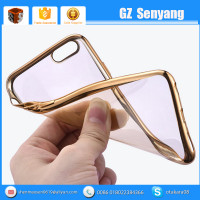 China Supplier Ultrathin TPU Electroplate Mobile Phone Case For Iphone Xiaomi Samsung ect