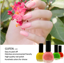 colorful natural organic nail polish
