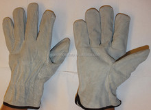 Best Selling Mens Gray Split Cowhide Leather Drivers Safety Glove