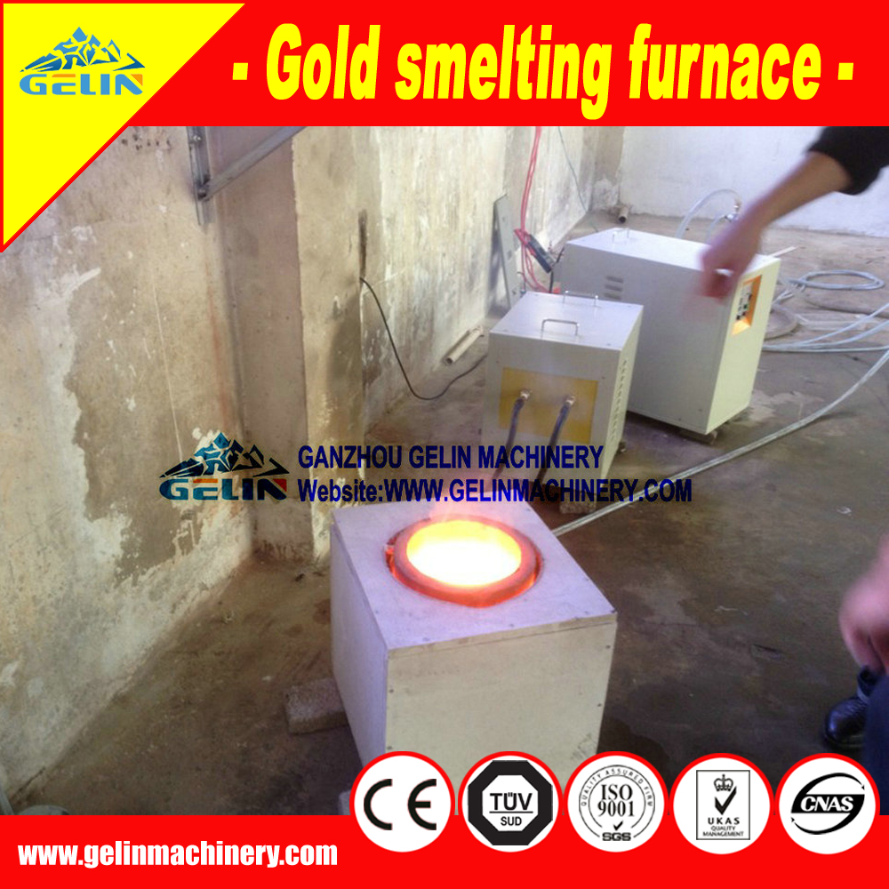 Portable small gold melting furnance for gold ore melting