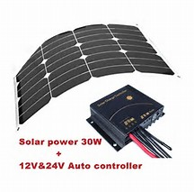 Hot sale 24v 30w flexible photovoltaic solar panel price India