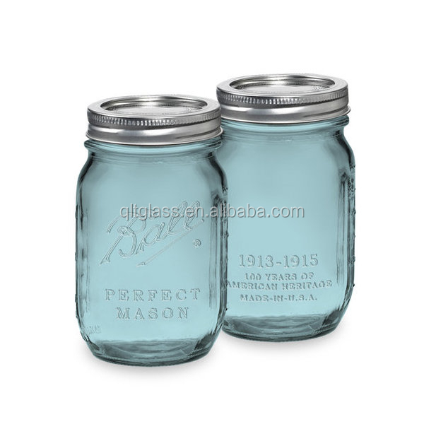 450ml Glass Bottle Glass Mason Jar With Metal Lid For Sauce Jam Ketchup Honey