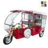 New best seller hot three wheel electric battery rickshaw tricycle with drum brake, h-power tricycle