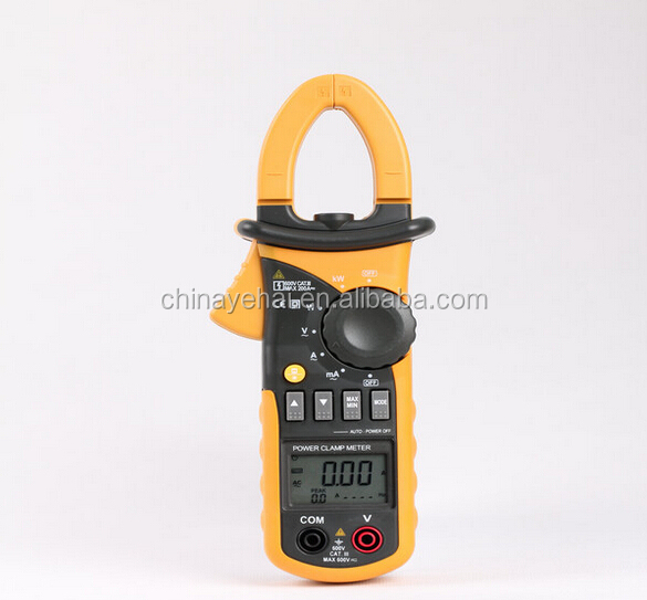 6000 counts harmonic digital power factor clamp meter