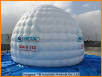 PVC tarpaulin inflatable airtight bubble golf tent for exhibition