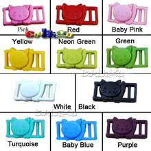 "3/8""Cat-Head Plastic Safty Breakaway Buckles For Bra Cat Collar Paracord Webbing Garment Accessories #FLC124(Mix-s)"