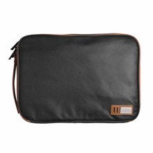 black fashion genuine leather laptop accessory bag sleeve for men daily use