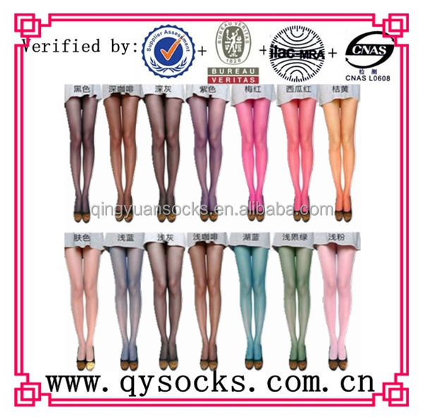 wholesale custom colorful sexy women pantyhose/fashion 2014 candy hot nude tights for girls