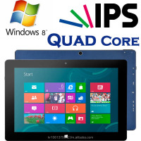 Windows Tablet PC, Intel Quad Core Z3735F, IPS, OGS, 32GB+2GB, High Quality, Slim Tablet