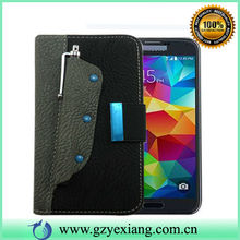 New Design touch pen Flip Leather Mobile Phone Case Cover for Samsung Galaxy S5 I9600