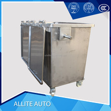 Hot sale stainless steel Refuse bin for garbage truck with wheels