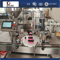 PLC control free shipping Fully Automatic gel polish filling machine,glass bottle aluminium capping machine,glass bottle filling