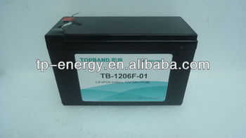 Factory large lithium-ion battery 12v 6ah