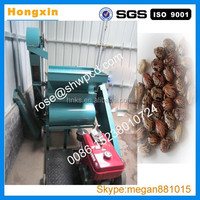 2016 Popular castor bean shelling processing machine/automatic castor peeling machine with diesel engine