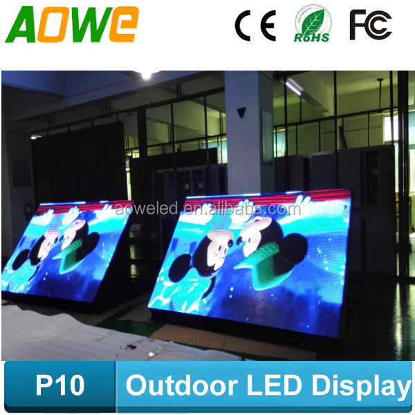 Full color , video function P10 LED electric sign board with wifi control