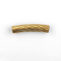 Bulk Wholesale Popular Gold Plated Carved Copper Tube Connectors for Jewelry Making