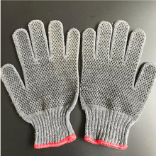OPTIMA PVC dotted cotton knitted gloves / cotton work gloves with rubber grip dots