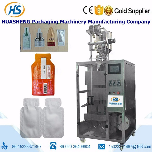 HS400Y-T Liquid special shape sachet packing machine for cosmetic samples