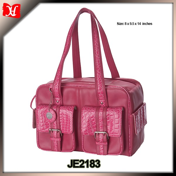 Leather Material and Soft Bag Type pink dslr Camera Bag for girl