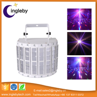 Guangzhou Professional Disco Party LED Butterfly Light Plastic Mini LED Flashlight Laser Strobe Effect Light
