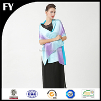 Factory reliable quality custom digital printed satin shawl plain
