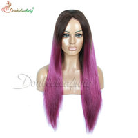 Fashion Ombre Straight Synthetic Lace Front Wig synthetic hair wig for women