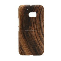 Wooden skin hard plastic case back cover for HTC M10, Leopard case for HTC M10