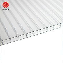 high quality PC triple wall 3 layers hollow sheet polycarbonate roofing sheet