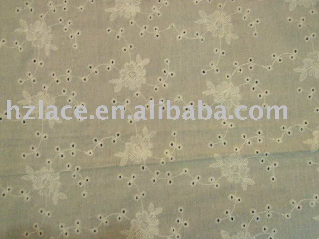 Latest all Cotton voile embroidery fabric