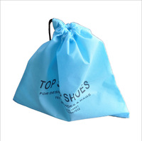 Toy block packing non woven drawstring bag for kids