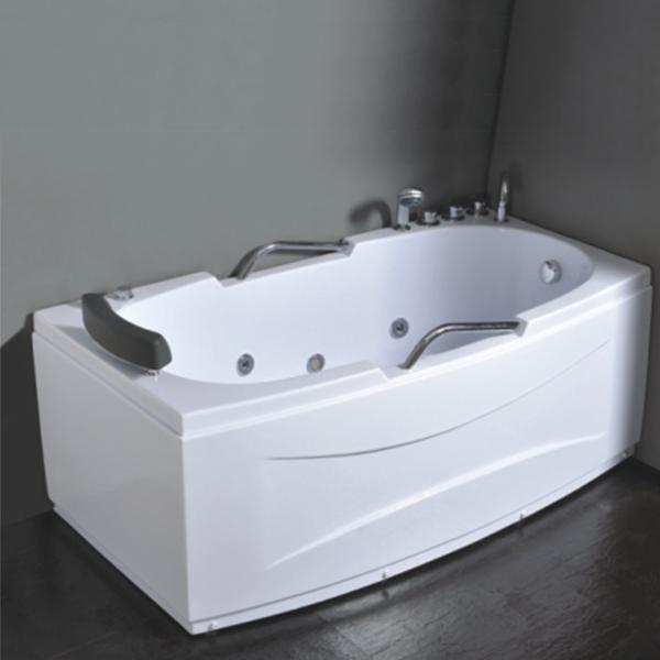 Acrylic indoor free standing bathtubs hot tubs with for Indoor bathroom hot tubs