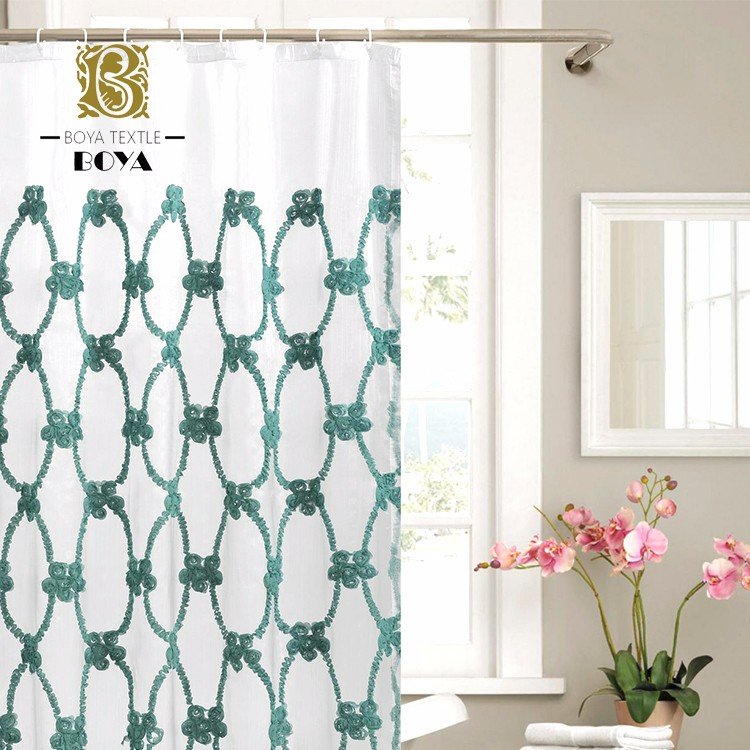 Chinese Supplier Fancy Design Shower Curtain With Matching Window Curtain