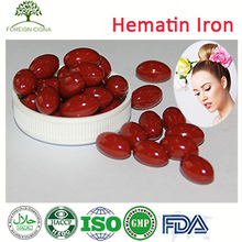 OEM GMP Women Health Tonic Hemoglobin Powder Hematin Softgel Capsule