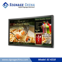 digital signage for indoor with touc e-paper display light box, e-paper for subway coach inwall advertisement, e-paper light box