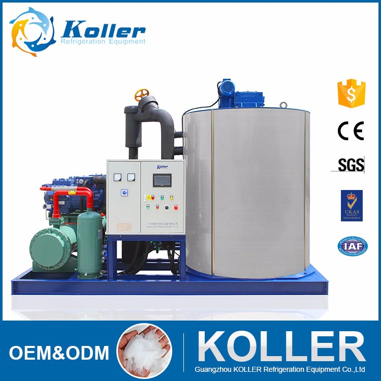 KOLLER 20tons flake ice machine for fishery fresh sea water ice maker KP200