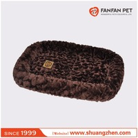 Luxury soft pet crate mat embossed plush Bumper dog and cat bed