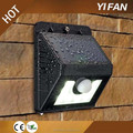 8led intelligent Mode Super Bright led motion sensor led solar garden light wireless led wall lamp